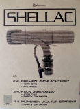SHELLAC - 1994 - Tourplakat - Concert - Party Diktator - Tourposter - Silber