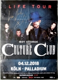 BOY GEORGE - CULTURE CLUB - 2018 - Poster - Köln - Signed / Autogramm