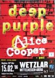 DEEP PURPLE - 2006 - Poster - Alice Cooper - Wetzlar - Signed / Autogramm