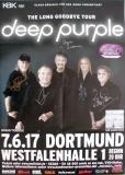 DEEP PURPLE - 2017 - Poster - Long Goodbye - Dortmund - Signed / Autogramm
