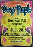 DEEP PURPLE - 2018 - Poster - Rudi Pell - Mönchenglad. - Signed / Autogramm