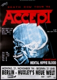 ACCEPT - 1994 - Konzertplakat - Concert - Death Row - Tourposter - Berlin