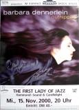 DENNERLEIN, BARBARA - 2000 - Plakat - Jazz - Poster - Signiert - Baden Baden