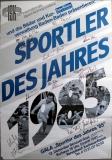 SPORTLER DES JAHRES - 1985 - Poster - Autogramme/signed - Baden Baden
