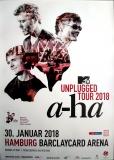 A-HA - 2018 - Plakat - Concert - Unplugged - Tourposter - Hamburg