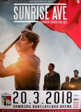 SUNRISE AVE - 2018 - Plakat - Concert - Heartbreak Century - Poster - Hamburg