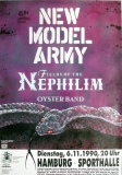 NEW MODEL ARMY - 1990 - Plakat - In Concert - Fields Of - Poster - Hamburg