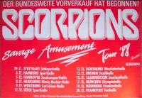 SCORPIONS - 1988 - Plakat - In Concert - Savage Amusement Tour - Poster