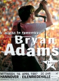 ADAMS, BRYAN - 1997 - Plakat - In Concert - A Night to...Tour - Poster - Hannove