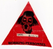 BARCLAY JAMES HARVEST - 1984 - Working Pass - Victims of Circum - Hamburg