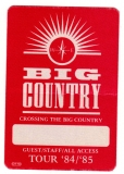 BIG COUNTRY - 1984 - Backstage Pass - Crossing the Big Country Tour