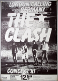 CLASH, THE - 1981 - Plakat - Concert - London Calling Germany - Poster - Hamburg