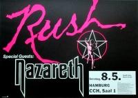 RUSH - 1983 - Plakat - In Concert - Nazareth - Signals Tour - Poster - Hamburg
