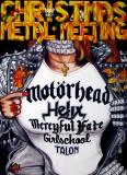 CHRISTMAS METAL MEETING - 1984 - Motörhead - Girlschool - Helix - Poster