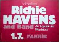 HAVENS, RICHIE - 1982 - Plakat - Freedom - Woodstock - Poster - Hamburg