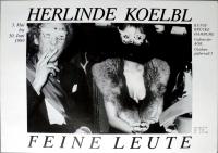 KOELBL, HERLINDE - 1989 - Plakat - Feine Leute - Austellung - Poster - Hamburg