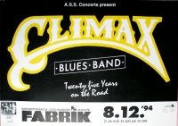 CLIMAX BLUES BAND - 1994 - Plakat - 25 Years on the Road - Poster - Hamburg