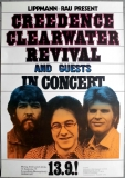 CREEDENCE CLEARWATER REVIVAL - 1971 - Günther Kieser - Poster - Frankfurt