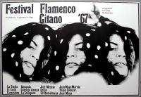 FESTIVAL FLAMENCO GITANO - 1967 - Plakat - Concert - Günther Kieser - Poster