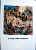 AUSSTELLUNG: ACHTUNDZWANZIG FAHNEN - 19XX - Heggelke - Poster - Hamburg