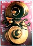 JAZZ FEST BERLIN - 1991 - Plakat - Günther Kieser - Poster