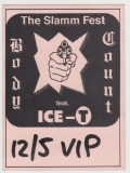 BODY COUNT - 1993 - Backstage Pass - VIP - ICE-T - The Slamm Fest Tour