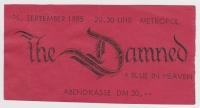 DAMNED, THE - 1985 - Ticket - Eintrittskarte - Phantasmagoria Tour - Berlin
