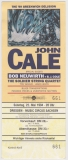 CALE, JOHN - VELVET UNDERGROUND - 1994 - Ticket - Eintrittskarte - Dresden