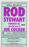 STEWART, ROD - 1986 - Ticket - Einrtittskarte - Joe Cocker - Tour - Berlin
