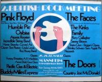 BRITISH ROCK MEETING - 1972 - Pink Floyd - The Doors - Poster - Mannheim