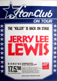 LEWIS, JERRY LEE - 1988 - Plakat - In Concert -  Star Club Tour - Poster - Berlin