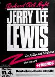 LEWIS, JERRY LEE - 1983 - Plakat - In Concert -  Star Club Tour - Poster - Berlin