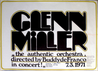 MILLER, GLENN - 1971 - Konzertplakat - In Concert - Tourposter - Düsseldorf