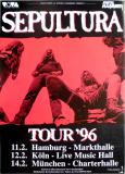 SEPULTURA - 1996 - Plakat - In Concert - Roots Tour - Poster