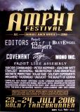 AMPHI FESTIVAL - 2016 - Editors - Projekt Pitchfork - Blutengel - Poster - Köln