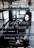DARK DANCE TREFFEN 14. - 2005 - Crüxshadows - Samsas Traum - Poster - Lahr