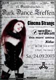 DARK DANCE TREFFEN 15. - 2005 - Welle Erdball - Cinema Strange - Poster - Lahr