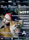 DARK DANCE TREFFEN 19. - 2006 - Joachim Witt - Rotersand - Poster - Autogramme
