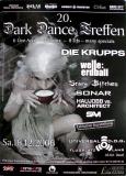 DARK DANCE TREFFEN 20. - 2006 - Die Krupps - Welle Erdball - Somar - Poster - Lahr