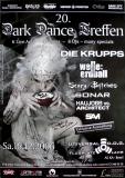 DARK DANCE TREFFEN 20. - 2006 - Die Krupps - Sonar - Poster - Autogramme
