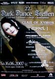 DARK DANCE TREFFEN 22. - 2007 - Clan of Xymox - Frozen Plasma - Poster - Lahr