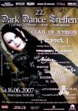 DARK DANCE TREFFEN 22. - 2007 - Clan of Xymox - Poster - Autogramme