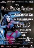 DARK DANCE TREFFEN 23. - 2007 - Agonoize - In The Nursery - Poster - Lahr