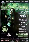 DARK DANCE TREFFEN 25. - 2008 - Hocico - Psyche - Schelmish - Poster - Lahr