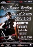 DARK DANCE TREFFEN 29. - 2009 - Diary Of Dreams - De/Vision - Poster - Lahr
