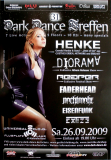 DARK DANCE TREFFEN 31. - 2009 - Henke - Diorama - Nachtmahr - Poster - Lahr