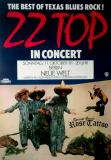 ZZ TOP - 1981 - Plakat - In Concert - Rose Tattoo - El Loco Tour - Poster - Berlin