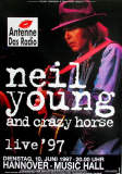 YOUNG, NEIL - 1997 - Plakat - Sleeps With Angels Tour - Poster - Hannover