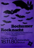 BOCHUMER ROCKNACHT - 1980 - Plakat - Herman Brood - Hoelderlin - Poster