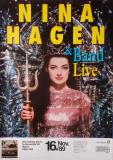 HAGEN, NINA - 1989 - Plakat - In Concert - Nina Hagen Tour - Poster - Mainz